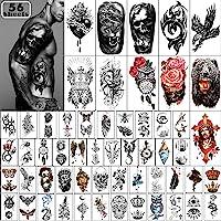 Yazhiji 56 Vellen Tijdelijke Tattoos Stickers 11 Vellen Half Arm Schouder Tatoeages voor Mannen of Vrouwen met 45 Vellen…