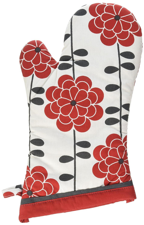 Terry-Lined Designer Oven Mitt 13 Rise /& Shine 13 6014-1611 MUkitchen 100/% Cotton