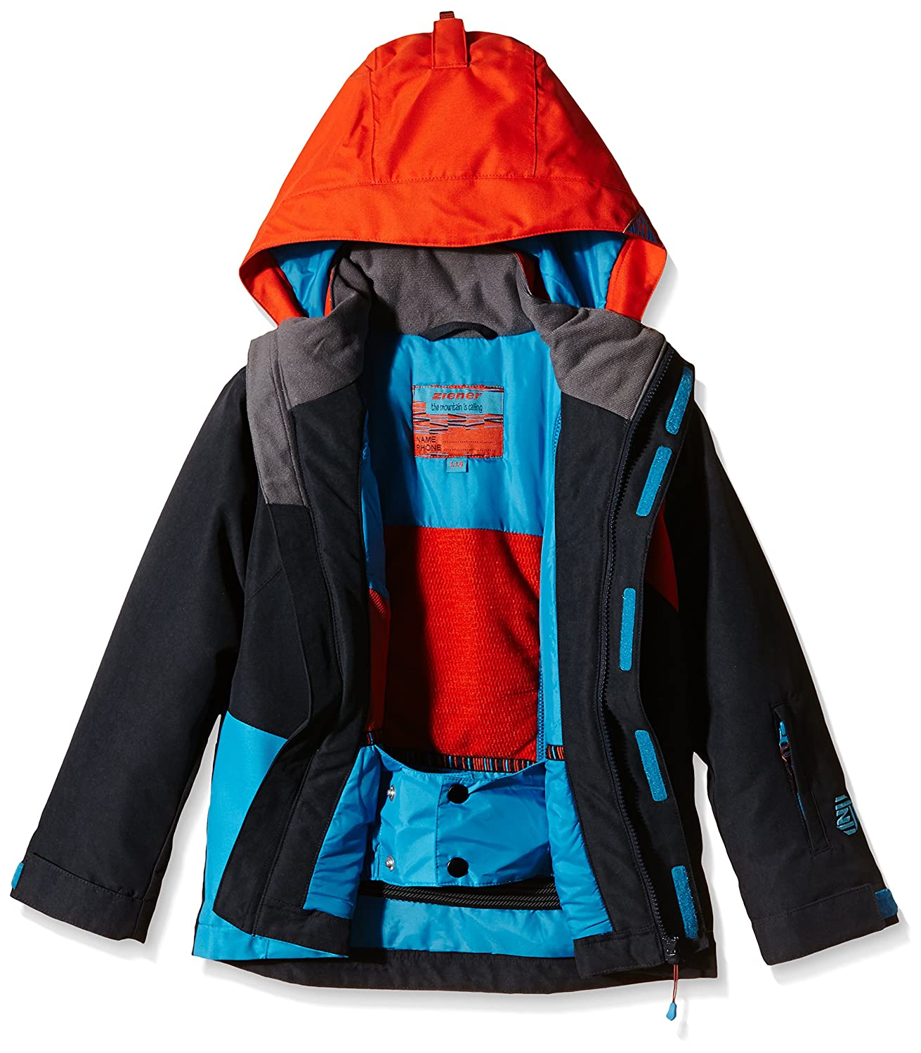 Ziener Kinder Jacke Almin Jun, Mehrfarbig (Dark Shadow Splash), 140,  157906  Amazon.de  Sport   Freizeit 55c96748a6