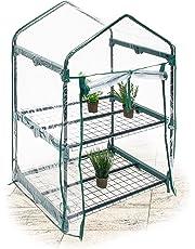 Relaxdays Serra Vivaio per Giardinaggio, 2 Ripiani, Modello Piccolo, Trasparente