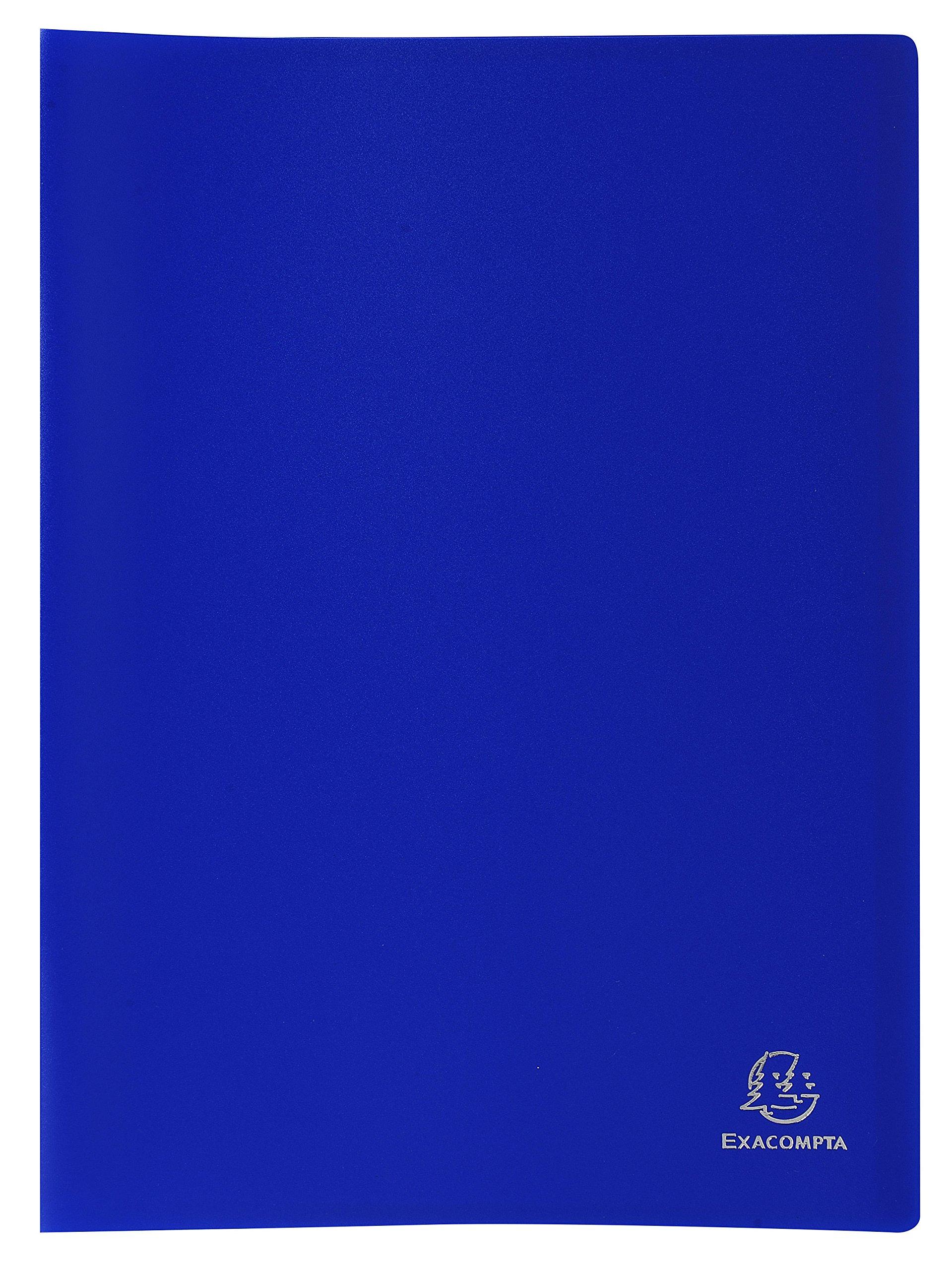 Exacompta 8562E - Carpeta de 60 fundas PVC, A4, color azul product image
