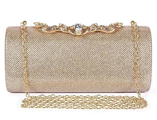 787ec2c5ecff Baigio sparkly diamante woven evening clutch bag luxury rhinestones for  wedding party prom bridal champagne jpg
