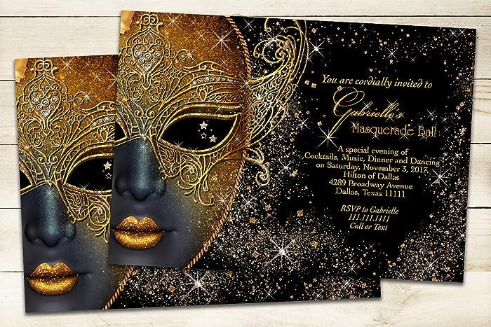amazon com masquerade invitation handmade