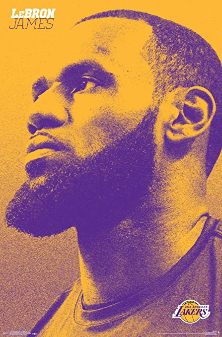 41d8a1493e3e4 Trends International Los Angeles Lakers - Lebron James Wall Poster, Multi