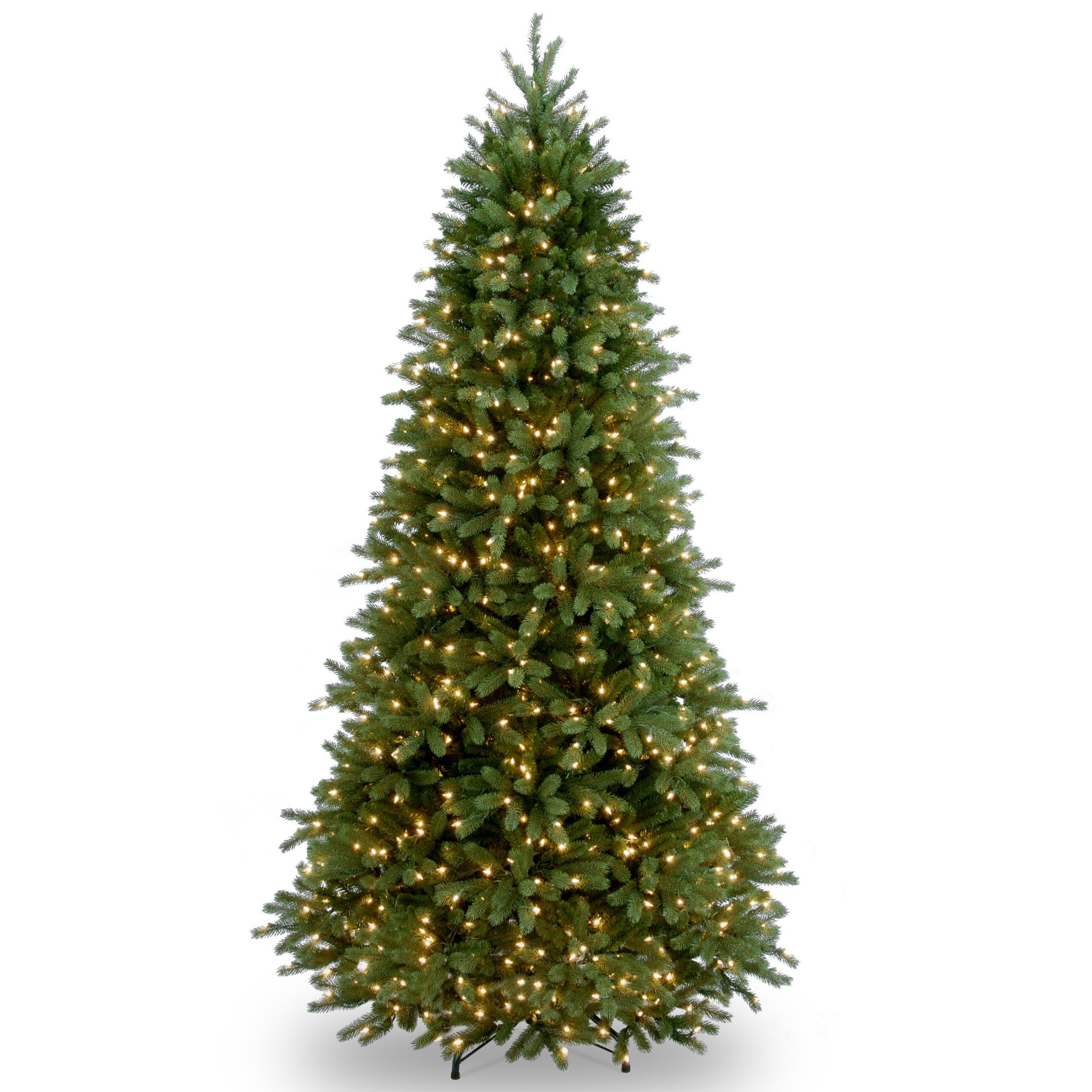 National Tree 7.5 Foot ''Feel-Real'' Jersey Fraser Slim Tree with 800 Clear Lights, Hinged (PEJF1-304-75)