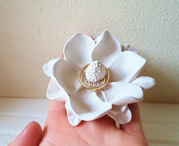 Amazon.com: Ring dish, Magnolia, wedding ring holder, bridal party