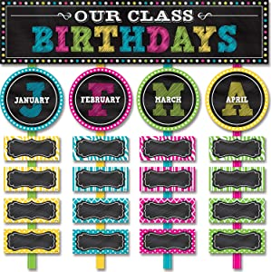 Teacher Created Resources Chalkboard Brights Our Class Birthdays Mini Bulletin Board (5506)