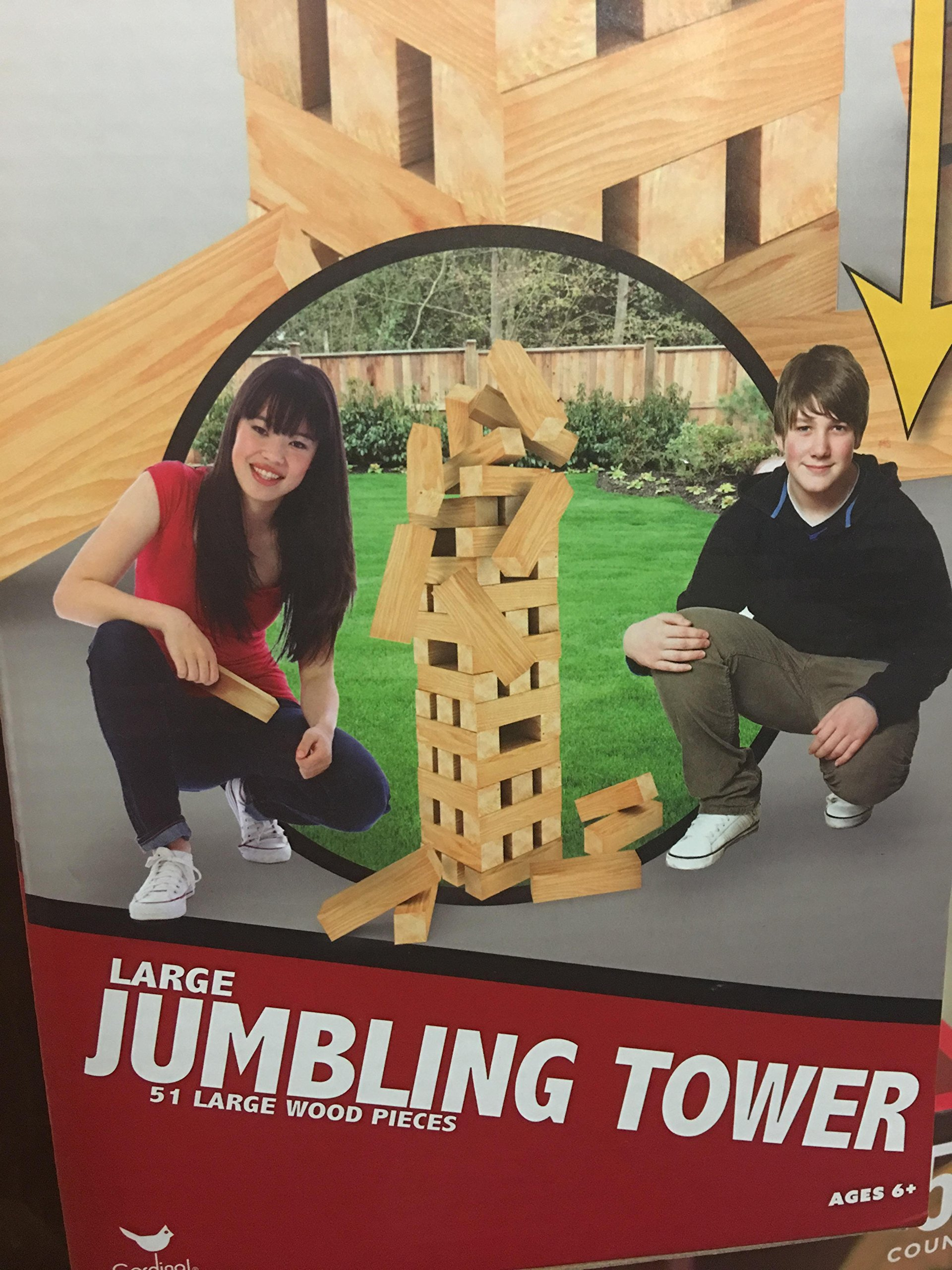 Large Jumbling tower 17 inches tall 51 large wood pieces
