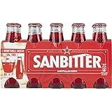 SANBITTER, Aperitivo Analcolico Bottiglia Monodose da 10 cl Confezione da 10 bottiglie