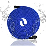 Garden Hose, 75ft Expanding Hose, soled Expandable Garden Hose, Flexible Water Hose,Bungee Expanding Hose,Triple Layer Latex Core Extra Strength without Spray Nozzle Hose,Perfect for all Wateing Needs