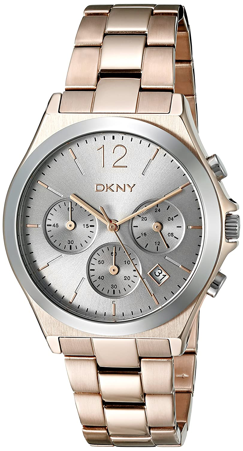 Amazon.com: DKNY Women's 'Parsons' Quartz Stainless Steel Casual Watch  (Model: NY2453): Watches