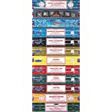Set of 12 Nag Champa, Super Hit, Aastha, Buddha Blessing, Aura Cleansing, Arabian Musk, Chakra, Dragon Fire, Prana, Tantra, Sandalwood, Patchouli Forest by Satya