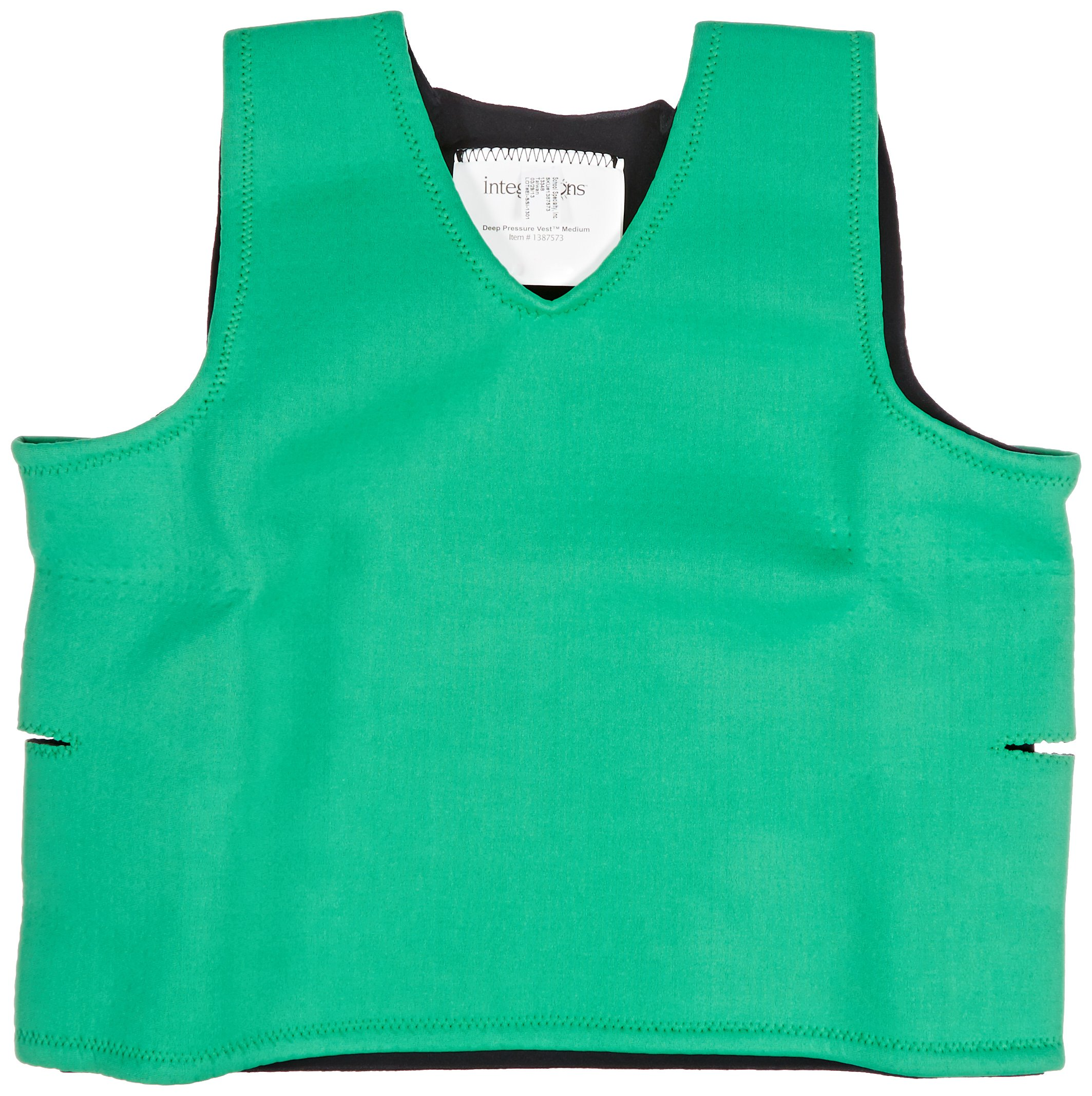Abilitations Integrations Deep Pressure Sensory Vest, Medium, Green