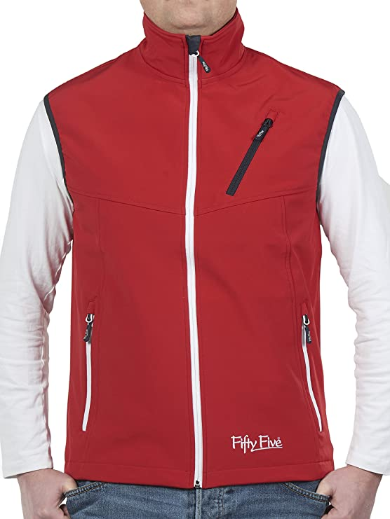 TALLA S. Fifty Five Softshellweste Freizeitweste Simon Winddichte Outdoorweste Windbreaker Chaleco para Hombre
