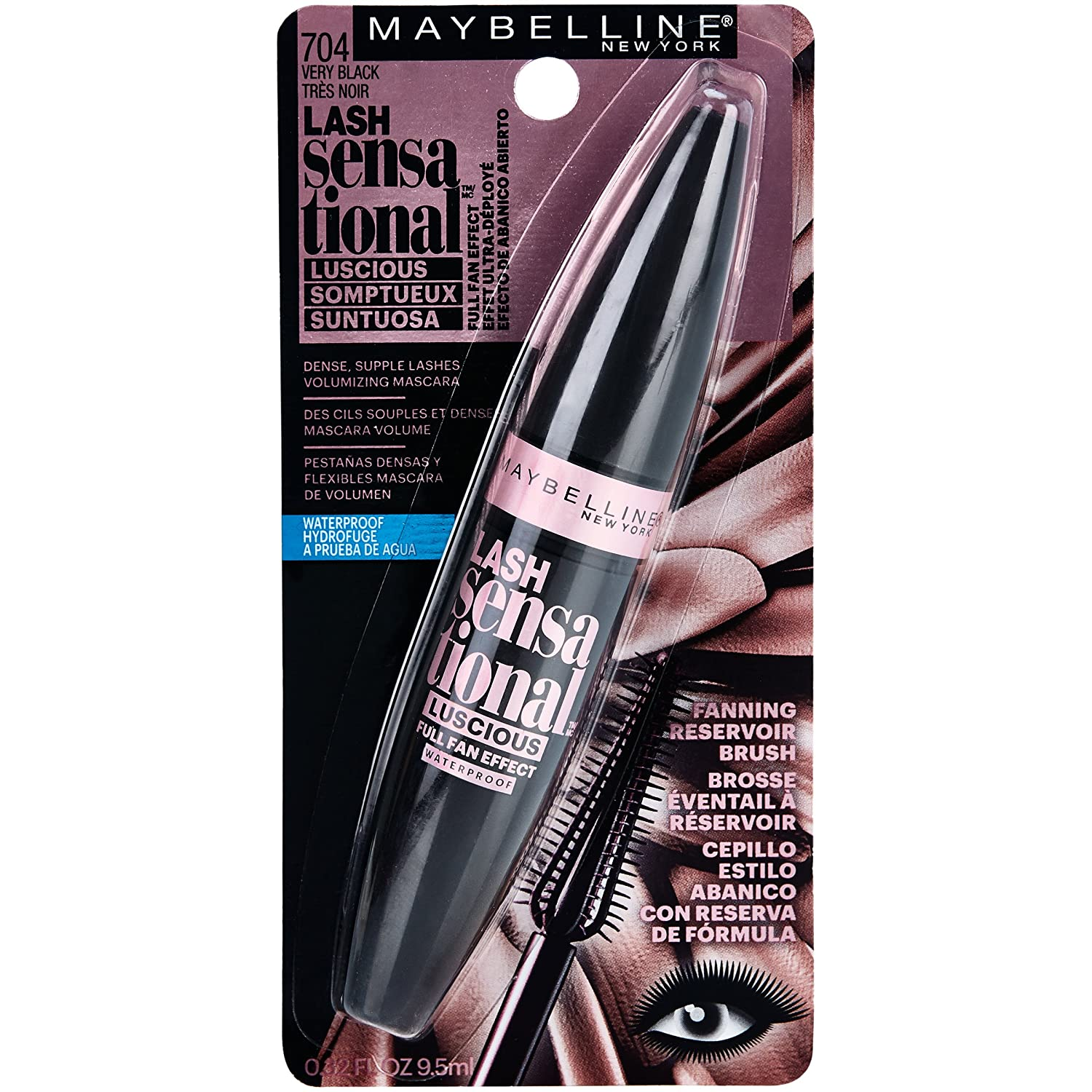 13678b7324e Buy Very Black, 1 : Maybelline New York Lash Sensational Luscious  Waterproof Mascara, Very Black, 0.3 Fluid Ounce Online at Low Prices in  India - Amazon.in