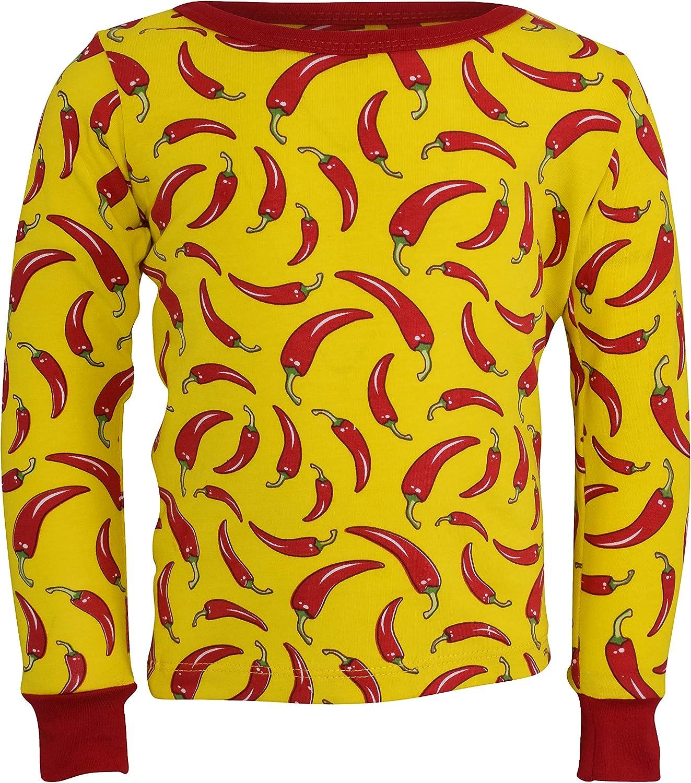 Unique Baby Unisex Red Chili Pepper PJ Pajama Set