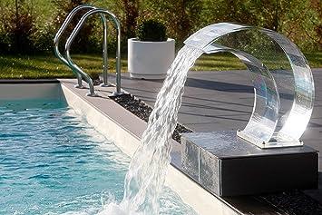 Soffione doccia tropic a cascata con illuminazione rgb pool