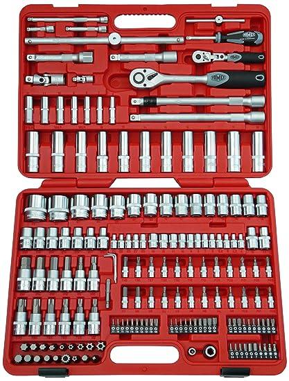 Famex Werkzeug 525-21 - Juego llaves de chicharra de diente fino y articulada,