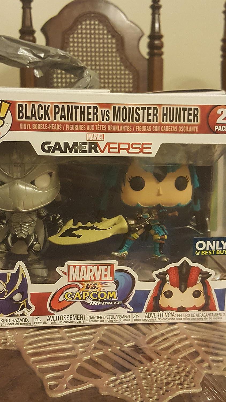 Funko  Figurine Marvel Vs Capcom  2Pack Black Panther Vs Monster Hunter Exclu Pop 10cm  0889698227889