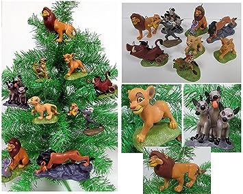 Lion King 9 Piece Christmas Ornament Set Featuring Simba Nala Scar Timon Zazu Hyena S