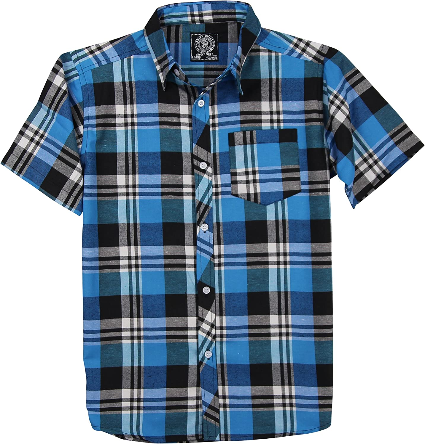 Street Rules Boys 2pc Printed Button Down Shirt and Twill Shorts Set