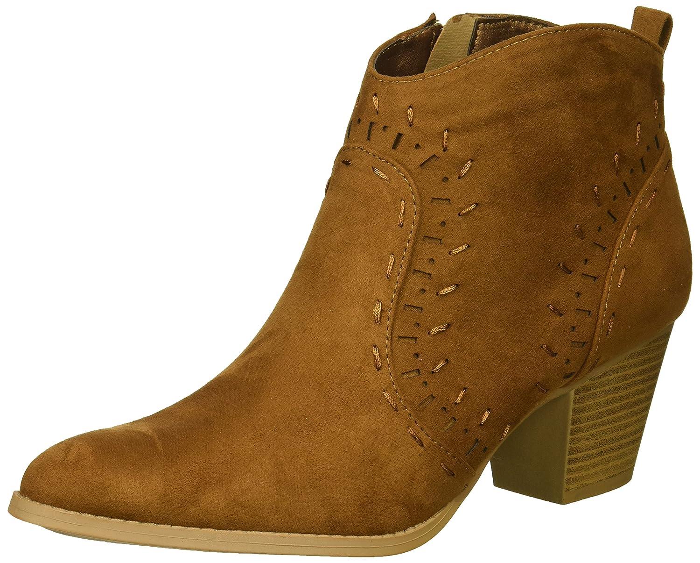 Qupid Women's Bootie Western Boot B0798LTRCB 9 B(M) US|Maple