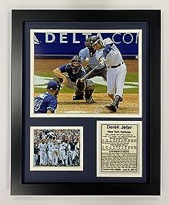 "Legends Never Die New York Yankee Derek Jeter 3000th Hit Collectible | Framed Photo Collage Wall Art Decor - 12""x15"""
