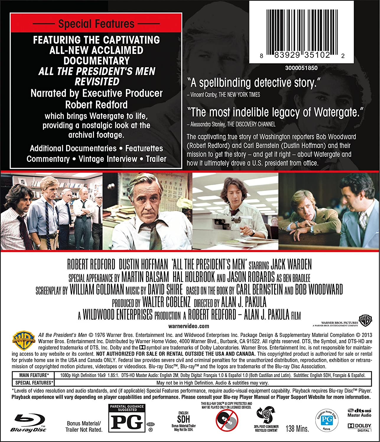 Amazoncom All The Presidents Men 2 Disc Special Edition (Bd)