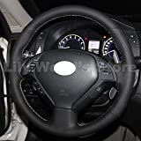Genuine Leather Steering Wheel Cover for Infiniti G37/ Infiniti G35/ infiniti EX35 /Infiniti EX25/ Infiniti EX37/ Infiniti Q60/ Infiniti QX50/ Infiniti Q40/ Infiniti IPL G