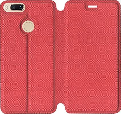 SBMS Flip Cover for Xiaomi Mi A1 (Red)