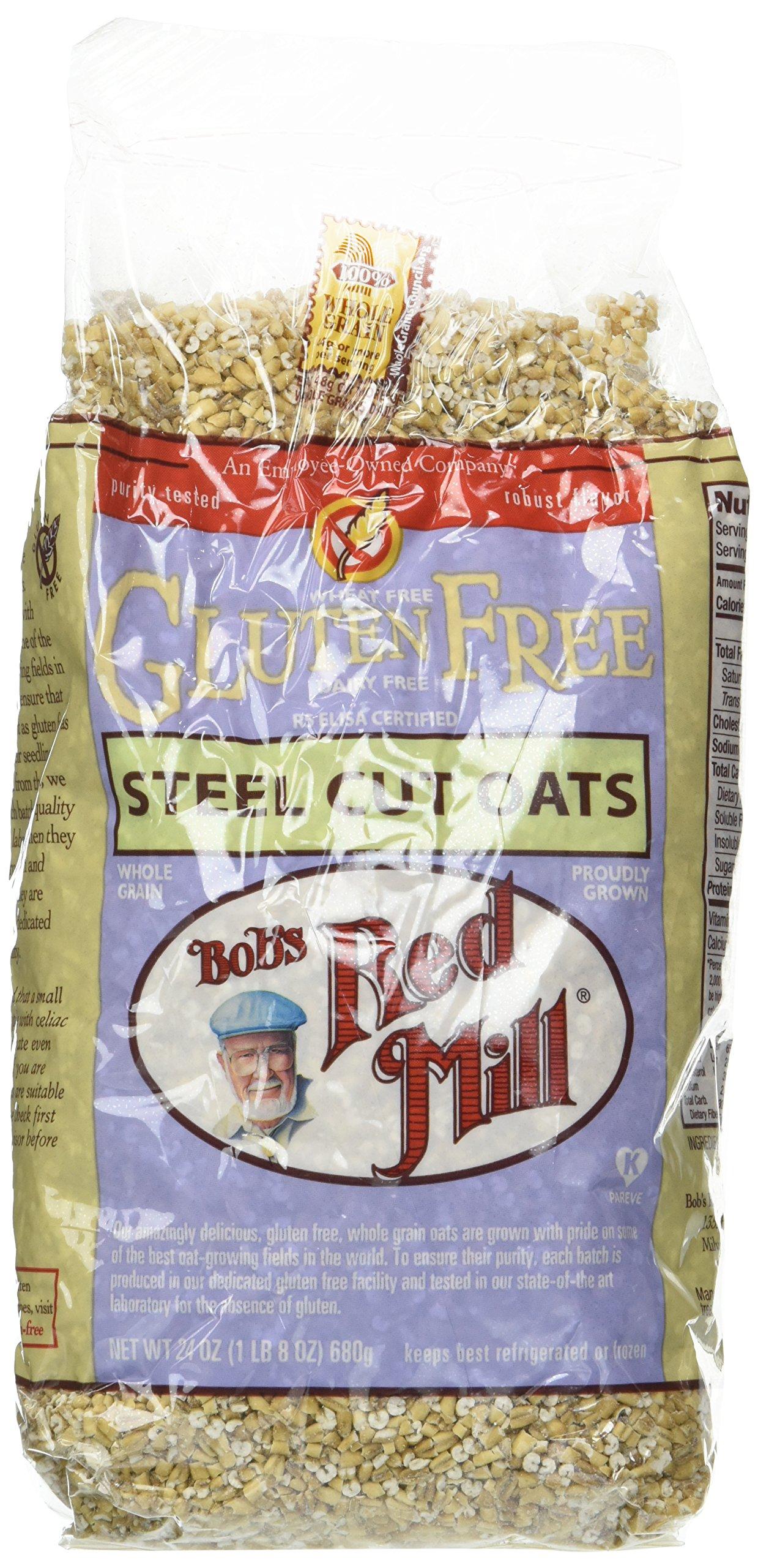 Bob's Red Mill Gluten Free Whole Grain Steel Cut Oats - 24 oz - 2 pk