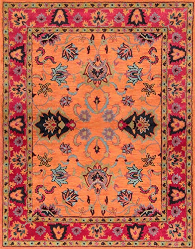 nuLOOM Montesque Hand Tufted Wool Rug, 8 6 x 11 6 , Orange