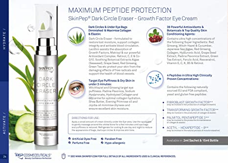 SkinPep ® Dark Circle Eraser - Growth Factor Eye Cream 2ml ...