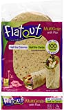 FLATOUT Flatbread MULTIGRAIN with FLAX - 100 Calories (2 Packs of 6 Flatbreads)