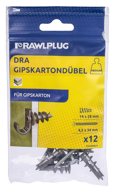 Rawlplug tacos para cartó n yeso, 1 pieza, R de S1 de dra01/12 1pieza R de S1de dra01/12 R-S1-DRA01/12