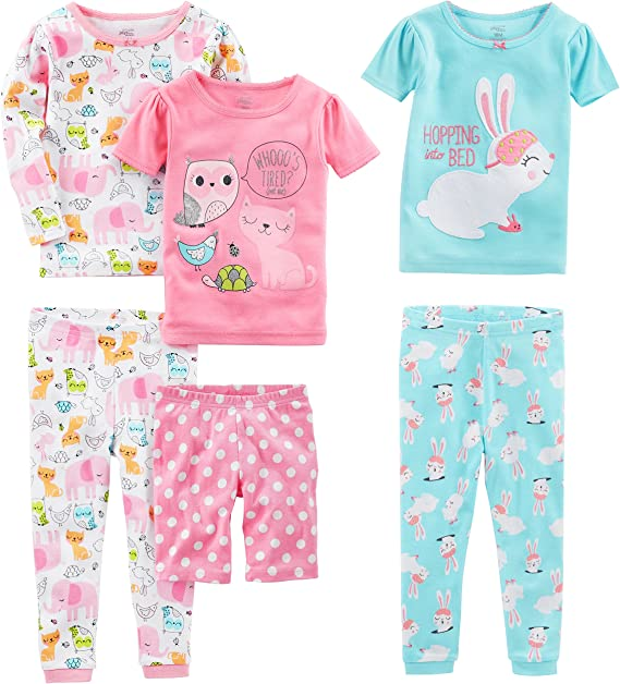 Simple Joys by Carters Baby and Toddler Boys 6-Piece Snug Fit Cotton Pajama Set Little Kid