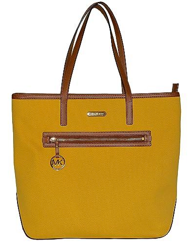 df6d2d42e187 Amazon.com: Michael Kors Large Kempton Sunflower Yellow Tote: Shoes