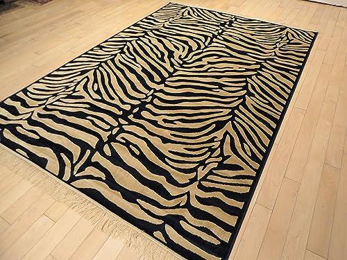 Luxury Silky Soft and Shiny 5×8 Zebra Rug