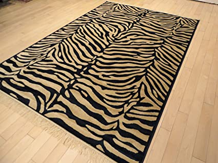 Amazon Com Luxury Silky Soft And Shiny 5x8 Zebra Rugs For Teen