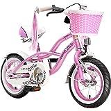 BIKESTAR® Premium 30.5cm (12 pulgada) Bicicleta Premium para los niños mas atrevidos y divertidos de 3 años ★ Edición Cruiser de Lujo ★ Rosa
