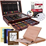 US Art Supply 163 Piece-Premium Mega Wood Box Art, Painting & Drawing Set that contains all the additional supplies you…