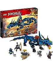LEGO NINJAGO Masters of Spinjitzu: Stormbringer 70652 Ninja Toy Building Kit with Blue Dragon Model (493 Piece)