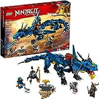 Lego Ninjago Masters of Spinjitzu Stormbringer Ninja Toy Building Kit with Blue Dragon Model
