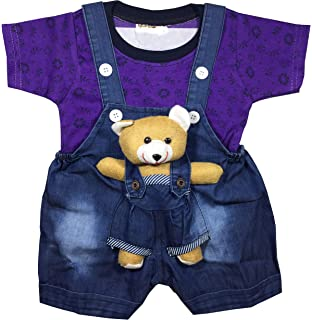 83c81df7dc Unisex Baby Boys Girls Dungaree Dress Set with T-Shirt and Ankle Length  Skirt …