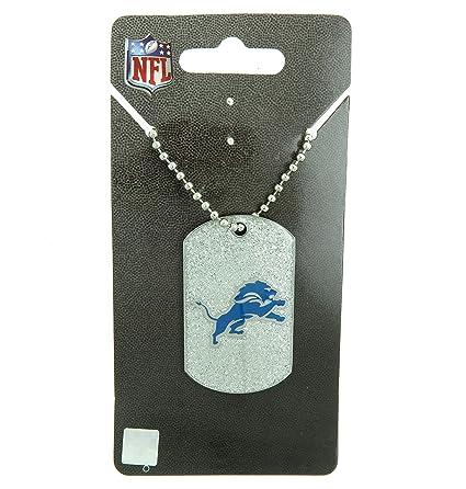 8dfe7b40 Amazon.com : Detroit Lions NFL Football Glitter Dog Tag Necklace ...