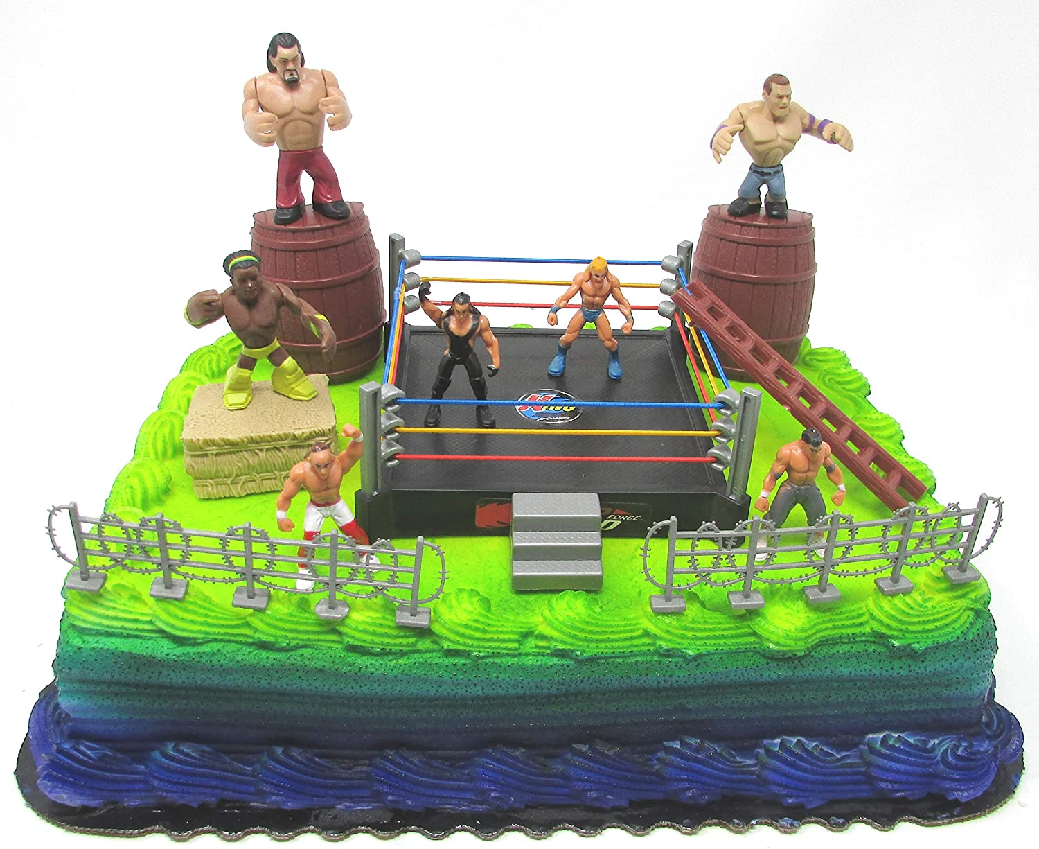 Pleasant Amazon Com Wwe Deluxe Birthday Cake Topper Wrestler Rumblers Personalised Birthday Cards Cominlily Jamesorg