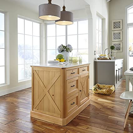 Home Styles 5524 94 Country Lodge Kitchen Island, Pine