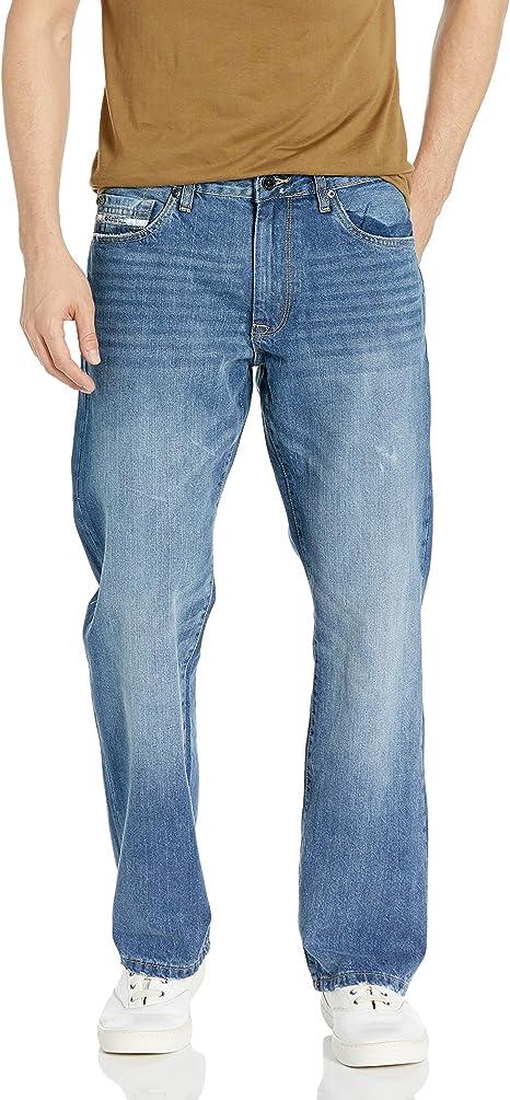 Mens Relaxed Straight Jean Jeans Ecko Unltd