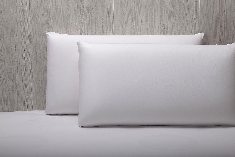 Pikolin Home - Almohada viscoelástica lyocell, desenfundable, híper-transpirable e impermeable, firmeza media, 35 x 105 cm, altura 13 cm (Todas las ...