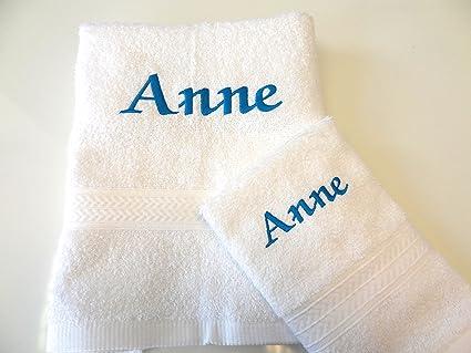 Personalizada baño y toalla para la cara – Juego Bordados siguiente día – gran regalo